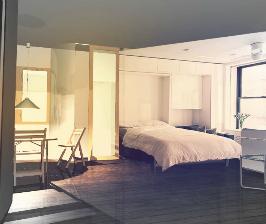 Как вписать спальню в гостиную?