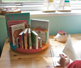 Вращающаяся подставка для книг