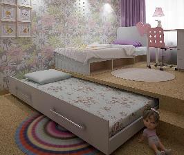 Двухкомнатная квартира с многофункциональной детской: проект Ольги Дубровской