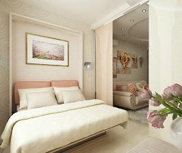 Двушка с трансформируемым спальным местом в гостиной: проект Полины Лебедевой