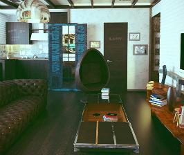 Квартира-студия в старинном доме: дизайнер Валерия Ганина