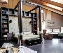 Спальня+библиотека