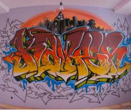 Как делаются граффити?