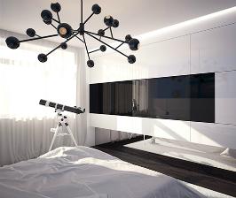 Двушка в стиле минимализм в доме КОПЭ-М-ПАРУС: архитектор Тимур Бобков