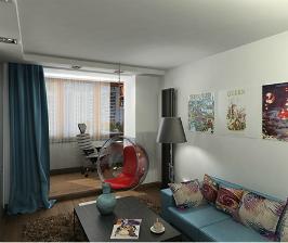 Из двушки — студия с небольшой изолированной спальней