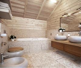 Санузел в деревянном доме: о чем следует знать