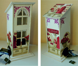 Декупаж: домик для чайных пакетов встиле Прованс