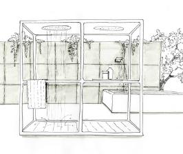 Предпоказ Salone del Bagno 2014. Zucchetti.Kos интригует душем outdoor