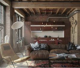 Из однушки – современная студия в стиле лофт: проект дизайн-бюро «Nordes design group»