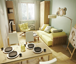 Квартира-студия для отдыха: проект Марины Саркисян