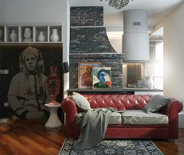 Однушка в осовремененном этно-белорусском стиле: дизайнер Сергей Баламатюк