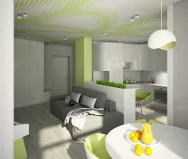 Где разбить газон... в небольшой квартире-студии: проект Дмитрия Аранчия