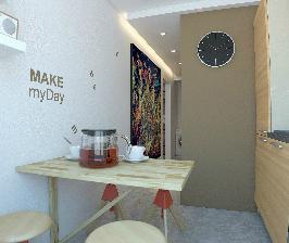 Однушка в панельной многоэтажке: дизайн-приемы минимализма от Олега Кургаева