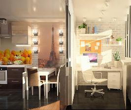 Как втиснуть в 50 метров квартиры-студии функционал трешки: проект Анастасии Кузнецовой
