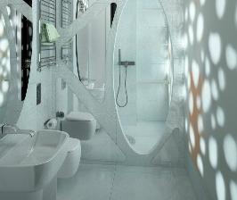 Интерьер в деталях: ванная без окон