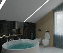 Ванная и спальня в едином ключе: проект студии I Z U M O F F (Томск)