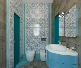 Интерьер в деталях: свежесть средиземноморья в ванной