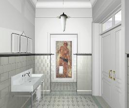 Ванная комната в духе советского реализма: проект Ирины Троценко