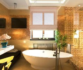 Ванная комната с двумя входами: дизайнеры Елена Карпенкова и Иван Урека