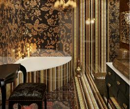 Шикарное декорирование ванной комнаты: проект Фоата Фатыхова