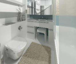 Интерьер в деталях: крохотная ванная в морском стиле