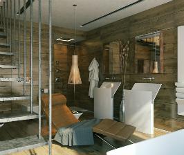 Дизайн ванной комнаты под дерево: проект Павла Ветрова