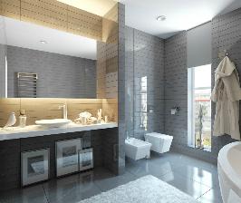 Глянцевая ванная комната: дизайн Studio Freedes