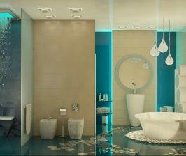 Ванная комната в аква-стиле: дизайнер Кристина Смолина