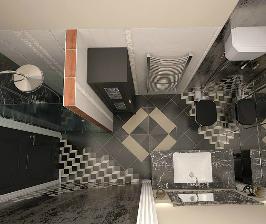 Маленькая ванная в стиле поп-арт: дизайнер Юлия Кирпичева