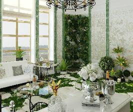 Как превратить гостиную в сад