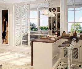 Кабинет на балконе: дизайнер Юлия Агафонова
