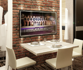 <strong>17</strong> телевизоров в интерьере кухни