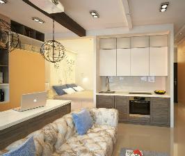 Смешать, но не взбалтывать: стильный лофт в маленькой квартире