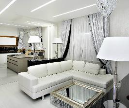 Белая глянцевая квартира: дизайнер Жанна Селиванова