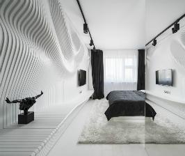 Ультрасовременный интерьер спальни от дизайн-бюро Geometrix Design