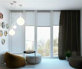 Лоджия с панорамным окном: дизайнер Денис Якименко