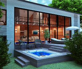 Дом-баня для гостей: дизайн-проект студии Архитекстура