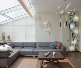 Веранда дачного дома с мансардными окнами: дизайн Наталья Дышлова