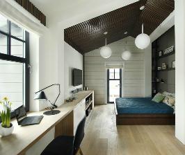 Как обустроить спальню, кабинет и гардероб в узкой комнате: 5 дизайнерских секретов