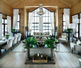 Загородный дом с деревянной обшивкой: дизайнер Татьяна Бабенко