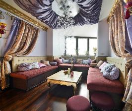 Всем лечь: как сделать эффектную гостиную в восточном стиле