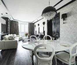 Монохромная квартира в Москве: студия дизайна АВКУБЕ