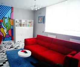 Необычная квартира для яркой девушки