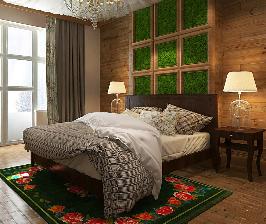 Нестандартное оформление потолка в спальне: проект Тани Андреевой