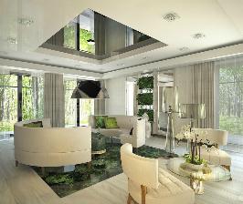 Проекты домов с панорамными окнами: проект Елены Турченковой