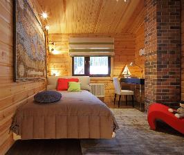 Детская комната в деревянном доме: дизайнер Марина Пенние