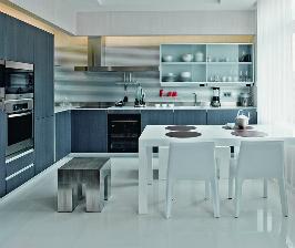 Светлая современная кухня: дизайнер Елизавета Конторовская
