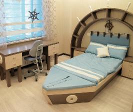 Детская комната в морском стиле: дизайнер Ольга Меркулова