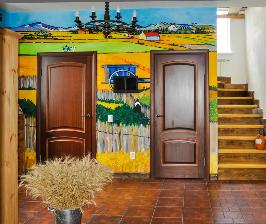 Внутренний дизайн загородного дома в стиле Ван Гога: дизайнер Виктория Бобровских