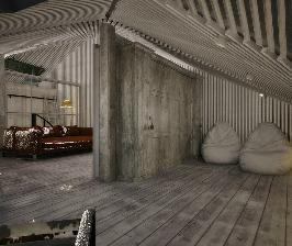 Нестандартная квартира со сложной геометрией крыши: дизайнер Volodymyr Rakhmistrovskyy